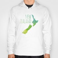 new zealand Hoodies featuring New Zealand by Stephanie Wittenburg