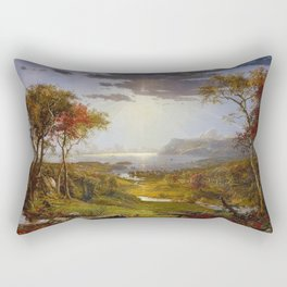 Autumn on the Hudson River by Jasper Francis Cropsey Rectangular Pillow