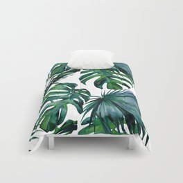 Tropical Palm Leaves Classic Comforters