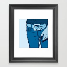 Jeans Framed Art Print