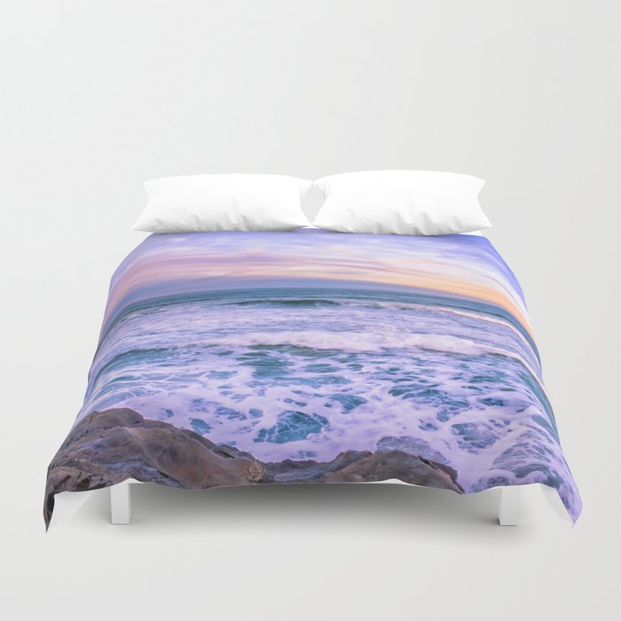 Sunset Of The Bay Of Biscay Duvet Cover By Svetlanakorneliuk
