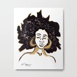AfroGlow Metal Print