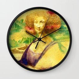 The Gioconda Mashup Wall Clock