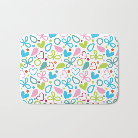 Colorful Lovely Pattern XII Bath Mat