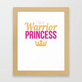 Mädchen Kämpferin Geschenk Framed Art Print