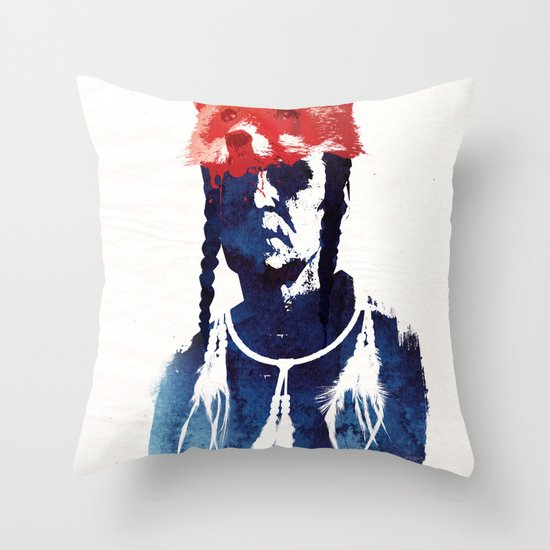Bloody days are coming Throw Pillow