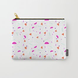Fun Painted Geometric Bits Pattern Carry-All Pouch