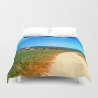 hiking Duvet Covers featuring Another lonely hiking trail by Patrick Jobst