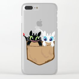 Lovely pocket made of skies Clear iPhone Case