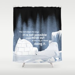 It is possible 3 Shower Curtain