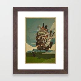 Moving Castle Framed Art Print