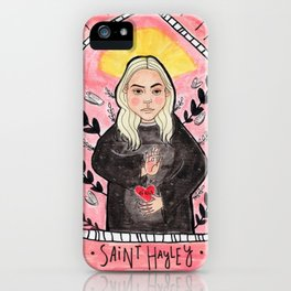 Saint Hayley iPhone Case