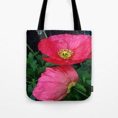 Poppies Three Tote Bag
