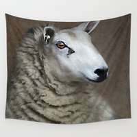 sheep Wall Tapestries featuring Sheep by ThePhotoGuyDarren