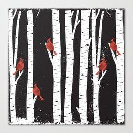 Northern Cardinal Birds Canvas Print