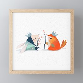 Bunny and Bird Kings of the Forest Framed Mini Art Print