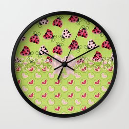 My Classic Ladybugs Wall Clock