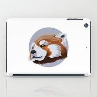 red panda iPad Cases featuring panda by JuliaTara