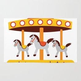 carousel amusement park Rug