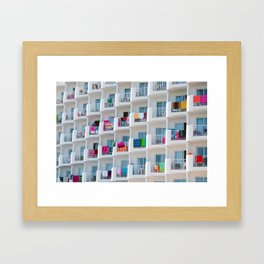 summer balcony Framed Art Print
