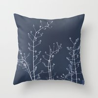 reassurance Throw Pillows featuring Jasmine In the Still of the Night by tanjica