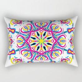 """CMYK in bloom"" Rectangular Pillow"
