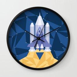 Geometric spaceship Wall Clock