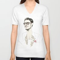 chad wys V-neck T-shirts featuring I´m hipster  by Cecilia Sánchez