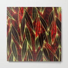 Magical Bamboo Forest in Night Glow Metal Print