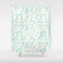 For the love of green Shower Curtain