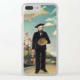 """Henri Rousseau """"Self Portrait from L'ile Saint Louis"""", 1890 Clear iPhone Case"""