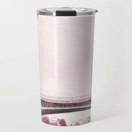 Pink mood at Triana Bridge Travel Mug