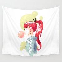 bubblegum Wall Tapestries featuring Bubblegum by Freeminds