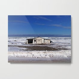 Garage and the Frozen Sea Metal Print