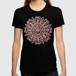 Rose Gold Floral Mandala T-shirt