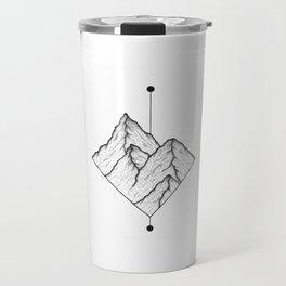 Mountain line design Travel Mug