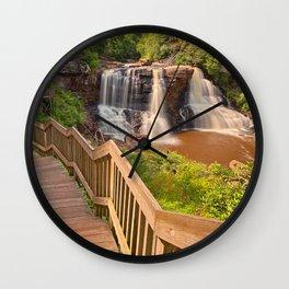 Winding Blackwater Falls Wall Clock