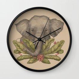 Borneo Pygmy Elephant Wall Clock