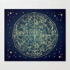 Zodiac Star Map Canvas Print