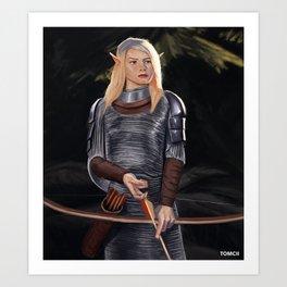 Elf Archer Art Print