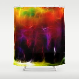 Colorful Forest Digital Shower Curtain