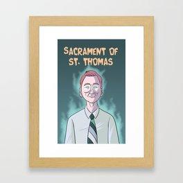 Sacrament of St. Thomas Framed Art Print