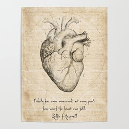 Heart Quote By Zelda Fitzgerald Poster