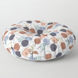 Vintage Microbiology on White Floor Pillow