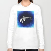 killer whale Long Sleeve T-shirts featuring Killer Whale Illustration by Limitless Design