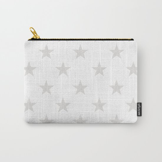 Stars (Platinum/White) Carry-All Pouch