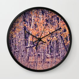 Autumn Orange I Wall Clock