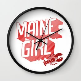 Maine Girl Wall Clock