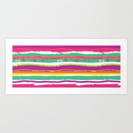Paint Stripes Art Print