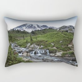 Edith Creek and Mount Rainier Rectangular Pillow